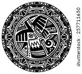 circle reminiscent of the mayan ...   Shutterstock . vector #257711650