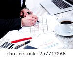 businessman checking... | Shutterstock . vector #257712268