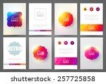 set of bright brochures... | Shutterstock .eps vector #257725858