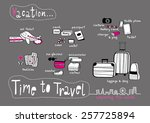 time to travel doodle  ... | Shutterstock .eps vector #257725894