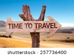 Time To Travel Wooden Sign Wit...