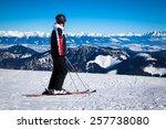 Skier On Hill Chopok  Slovakia