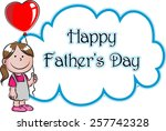happy father's day | Shutterstock .eps vector #257742328