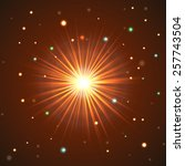 red star illustration with... | Shutterstock .eps vector #257743504