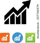 graph with arrow trending up... | Shutterstock .eps vector #257743579