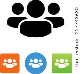 group of three people symbol  | Shutterstock .eps vector #257743630