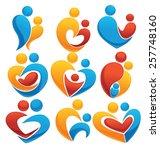 vector set of people  couple ... | Shutterstock .eps vector #257748160