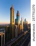 dubai downtown skyscrapers.... | Shutterstock . vector #257751370
