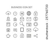 line business icons vector set...
