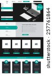 one page flat website template...
