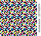 colorful pixel pattern | Shutterstock .eps vector #257762074