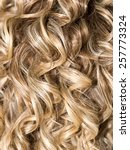 curly hair. hairdressing. wave .... | Shutterstock . vector #257773324