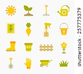 gardening color icons isolated... | Shutterstock .eps vector #257775379