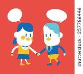 character illustration design.... | Shutterstock .eps vector #257786446