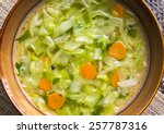 Plate Of Cabbage Soup With...