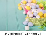 easter candy in cup cake...   Shutterstock . vector #257788534