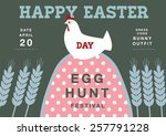 template egg greeting card ...   Shutterstock .eps vector #257791228