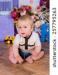 curious baby boy studying... | Shutterstock . vector #257795263