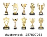 photos collection of cups... | Shutterstock . vector #257807083
