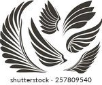set of five wings | Shutterstock .eps vector #257809540