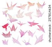 origami crane   Shutterstock .eps vector #257814634