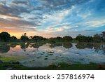 scenic sunset in african swamps ... | Shutterstock . vector #257816974
