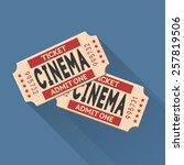 vector movie ticket vintage... | Shutterstock .eps vector #257819506