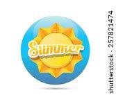 beautiful summer illustrations .... | Shutterstock .eps vector #257821474