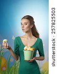 Easter Woman In Green Dress...