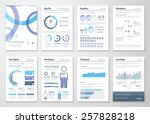 collection of business... | Shutterstock .eps vector #257828218