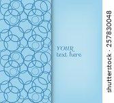 abstract background  wedding... | Shutterstock .eps vector #257830048