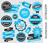 vector badges stickers and... | Shutterstock .eps vector #257831059