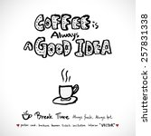 hand drawn cafe poster... | Shutterstock .eps vector #257831338