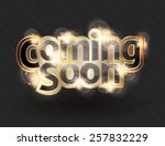 shining gold text effect for a... | Shutterstock .eps vector #257832229