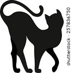 silhouette of a cat | Shutterstock .eps vector #257836750