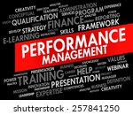 word cloud of performance... | Shutterstock .eps vector #257841250