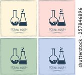 vector illustration test tube... | Shutterstock .eps vector #257846896