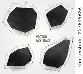vector set of abstract modern... | Shutterstock .eps vector #257849636