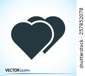 hart icon  | Shutterstock .eps vector #257852078