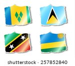 flags of the world  vector... | Shutterstock .eps vector #257852840
