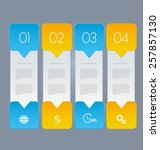 business infographics template... | Shutterstock .eps vector #257857130
