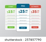 pricing comparison table.... | Shutterstock .eps vector #257857790