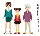 three ages of women. daughter ... | Shutterstock .eps vector #257857850