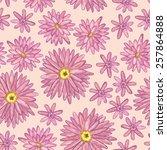 floral background. pink... | Shutterstock .eps vector #257864888