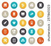 electronics icons. | Shutterstock .eps vector #257865323