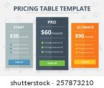 vector colorful pricing table...