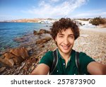 Young Tourist Taking Selfie On...