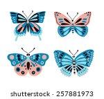 butterfly set. vector...