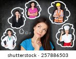 education and career choice... | Shutterstock . vector #257886503