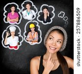 education and career choice... | Shutterstock . vector #257886509